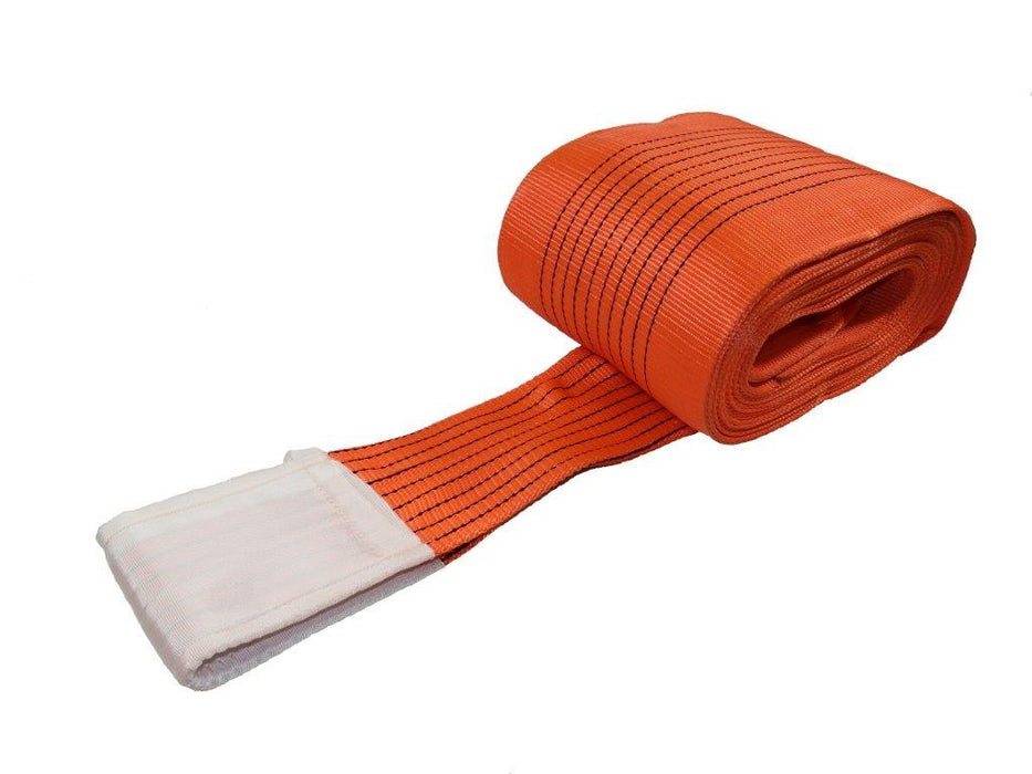 10000kg Duplex Orange flat webbing slings Ref: 283-10