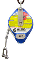 Globestock G-Guard, 300kg SWL Load Arrest Blocks from 7m to 25m galvanised steel rope.
