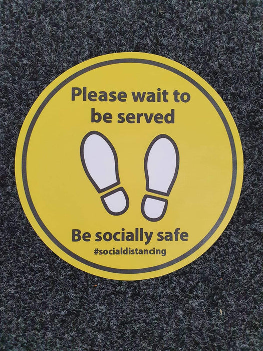 Please wait to be served