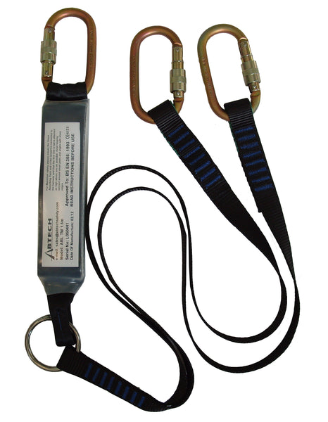 ABLTW1.5 - Abtech - 1.5m Shock absorbing Twin Lanyards (282-3-9)
