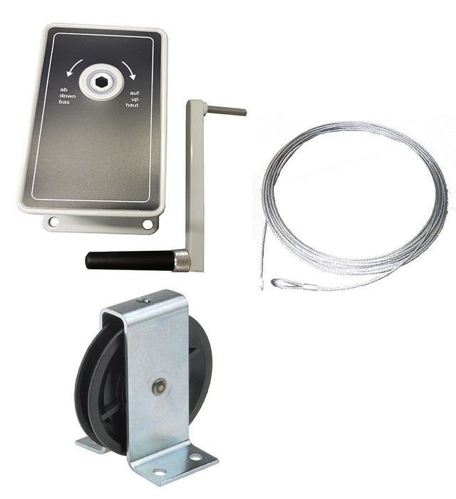 AG100 - 100kg Hand Winch- Kits for -  Clothes/Washing lines, Fitness Equipment, Chandeliers - plus many others Ref: 152-1