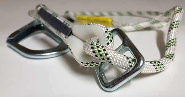 ARESTA Adjustable Rope Landyard, with Scaffold hook and Carabiner - 2m Ref: 296-54