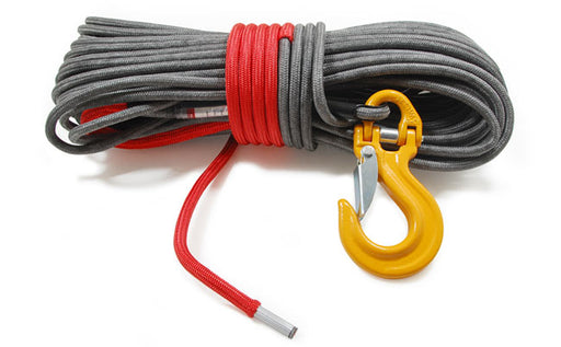 9mm Armortek Extreme Winch Pulling Rope Grey, Red Core from Rigging UK