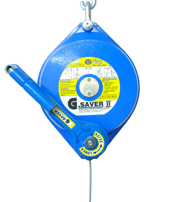Globestock G-Saver II™ Recovery Inertia Wheel with Galvanised Cable Ref: 253-3