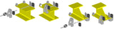 SHT Travel Trolley End Stop For Beam Width: 82-300mm (3 packs, 6 sets)