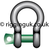 RUK Kit 1. 10 x 2.0t Green Pin Bow Shackles, and 10 x 2m Circ. 2.0t Round Slings