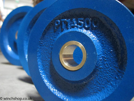 Pulley Type 1A (PT1A) - Cast Iron Pulley with Bronze Bush for Wire or Fibre Rope