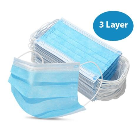 CE Marked 3 Layer Face Masks Ref: 121-1-3