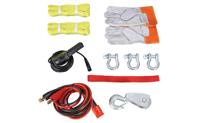 Trojan Portable Utility 12v (1814kg) Winch with Steel Cable