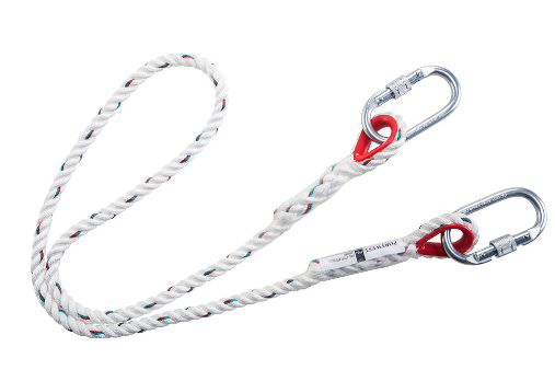 Single Rope Restraint Lanyard White