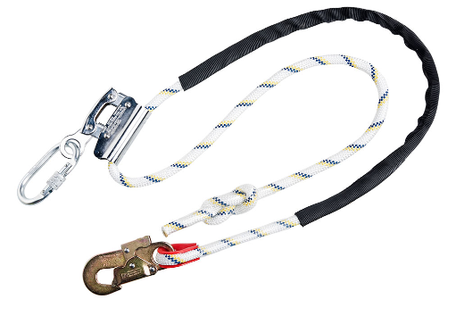 Work Positioning Lanyard with Grip Adjuster White