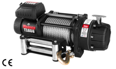 T-1000 Severe Duty Military Winch - 22,000 lb 12V & 24V- complete with Steel Rope