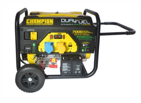 Champion 7000 Watt Dual Fuel Generator With Electric Start Ref: 118-3-4