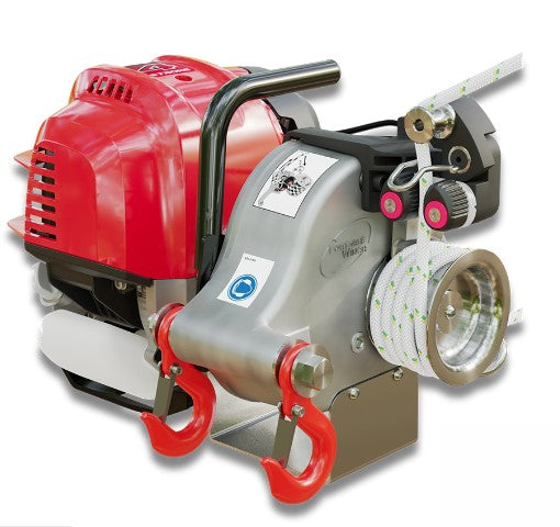 Portable Winch Petrol Pulling Capstan Winch 1000kg with brake system
