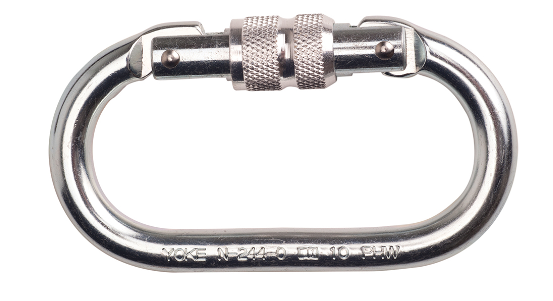 Portwest -  Screwgate Carabiner  Connector Silver
