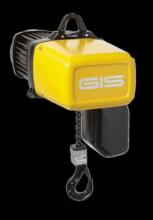 GIS GPM250/1NF ELECTRIC CHAIN HOIST WITH HOOK SUSPENSION - MAX 320kg SWL Ref: 203-2 - Hoistshop