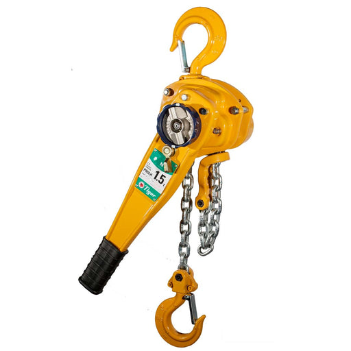 TIGER PROFESSIONAL LEVER HOIST PROLH, 3.0t CAPACITY with TRAVELLING END-STOP Ref: 210-21 available from RiggingUK on a next day delivery