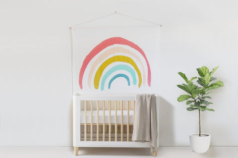 Rainbow Nursery Wall Hanging