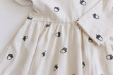Acorn Buck and Baa Organic Cotton toddler Jersey Dress Long Sleeves