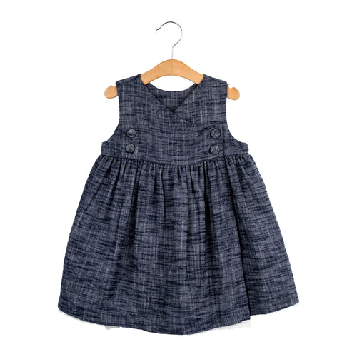 Aida Pinafore Dress – Indigo Chambray