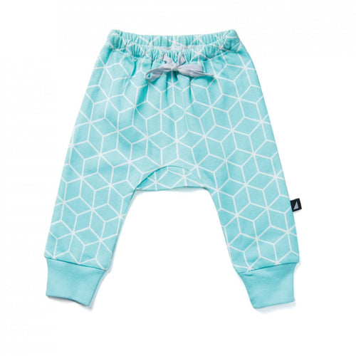 Geometric Print  Mint Baggy Leggings (LAST PIECE - SIZE 12-18m)