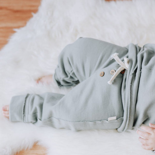 Eucalyptus Joggers in Organic Cotton Fleece