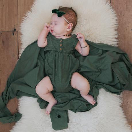 Moss Bubble Romper