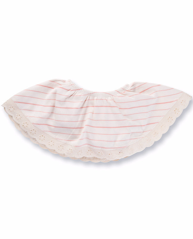 Peach French Stripe Skirt Bloomer