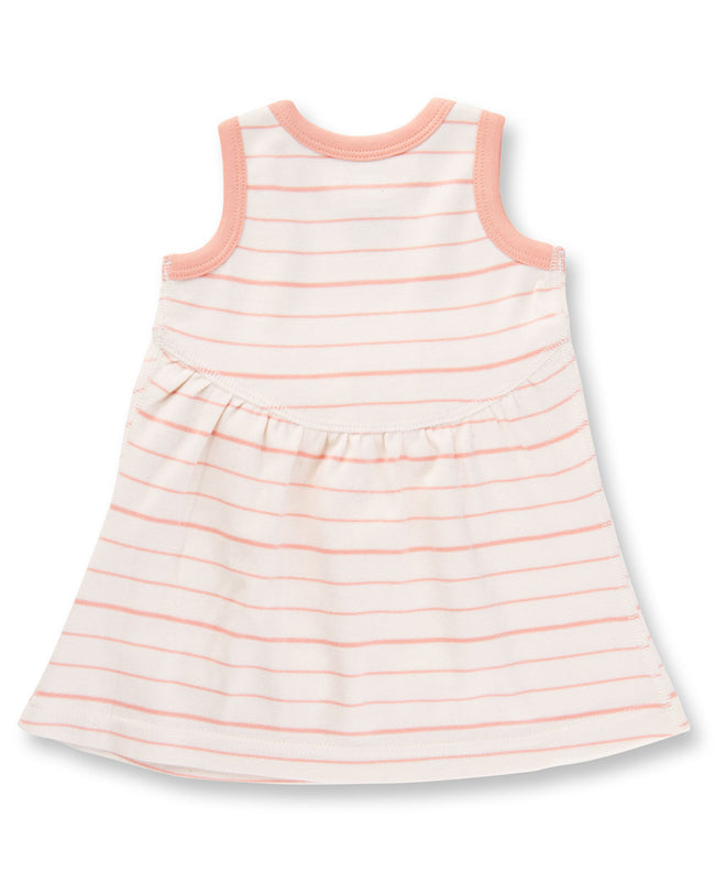 Peach French Stripe Dress