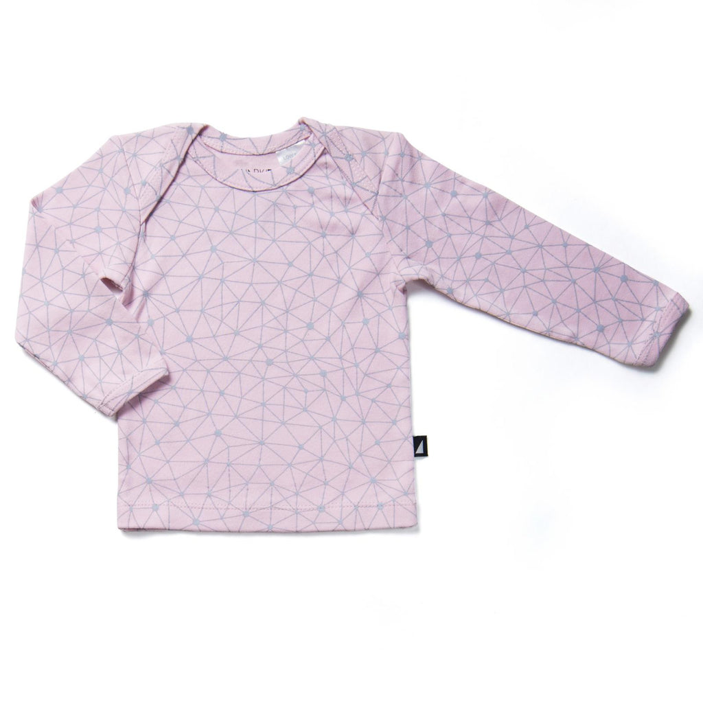 Galaxy Long Sleeve Tee Pink
