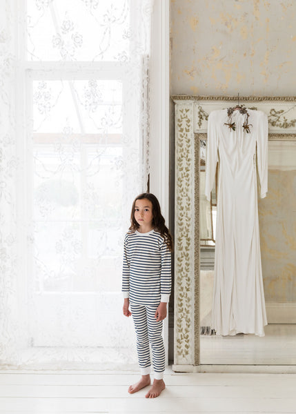 Kids Organic Cotton Classic PJ Set: Breton Stripe