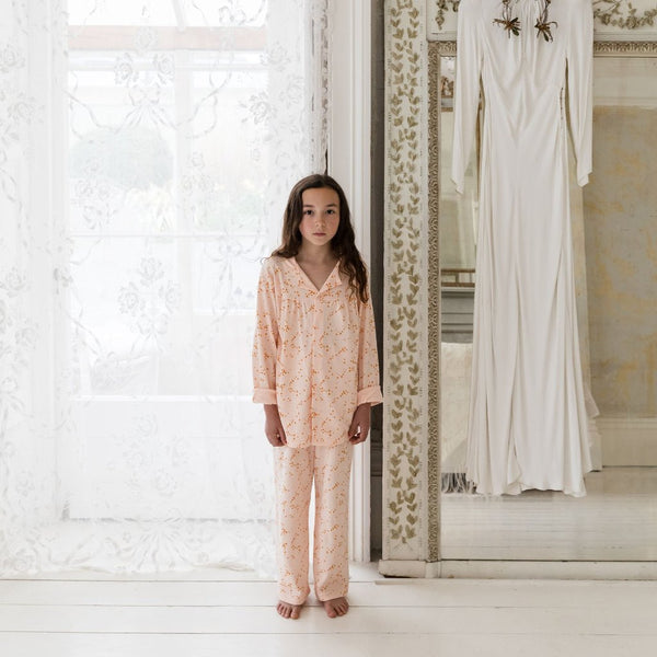 Kids Organic Cotton Collar PJ Set: Morris Star ONLY SIZE 3-4 LEFT