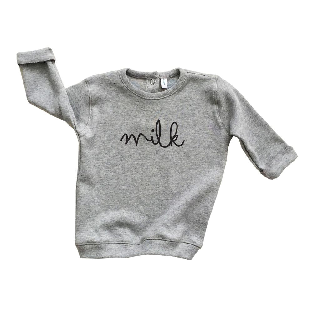 Grey Sweatshirt Milk