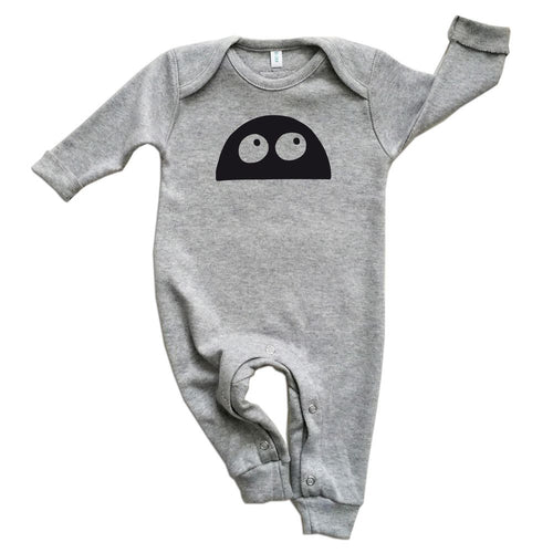 Grey Monster Romper