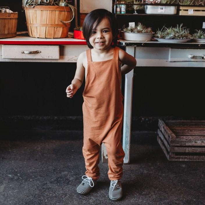 Bamboo Jersey Overalls - Persimmon