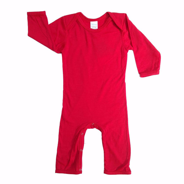 Woolmark Merino Bodysuit – Red Apple