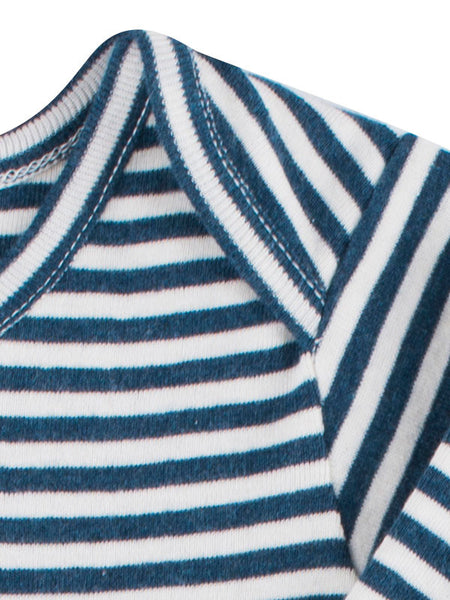 Striped Sleepsuit - Orion Blue