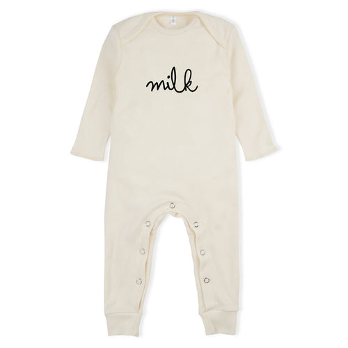 Milk Romper in Natural (Only 0-3m left)