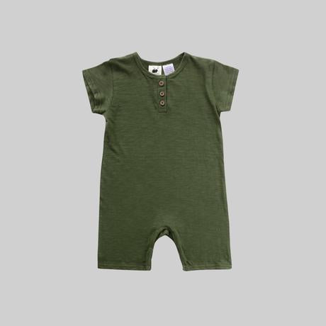 Shorty Playsuit - Moss Green
