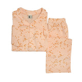 Girls Organic Cotton Collar Pyjama Set: Morris Star