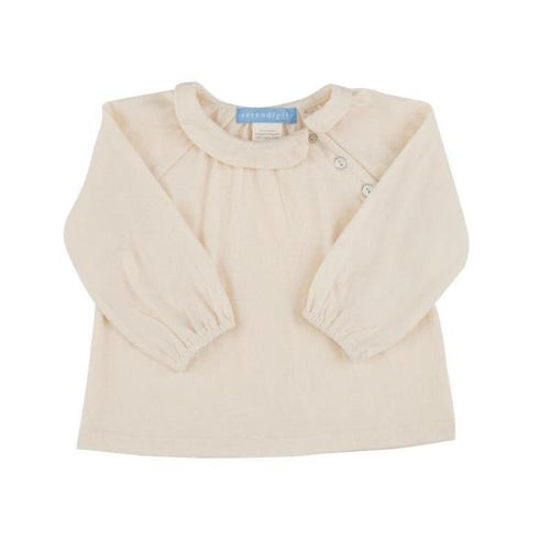 Peter Pan Collar Baby Blouse - Natural