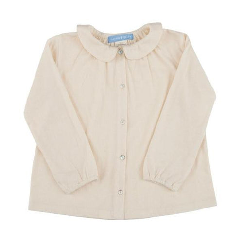 Peter Pan Collar Toddler Blouse  - Natural