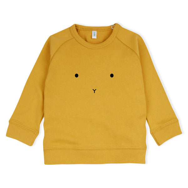 Mustard Bunny Sweatshirt (only 0-3m and 3-6m left)