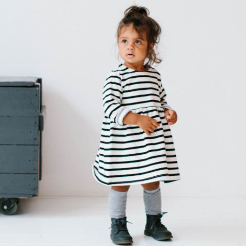 Breton Striped Fleece Dress