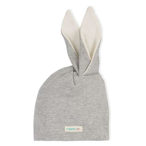 Grey Rabbit Ears Beanie
