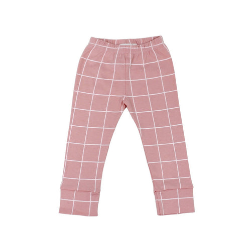 Peach Grid Organic Leggings