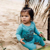 Baby Toddler Surfwear Blue Romper