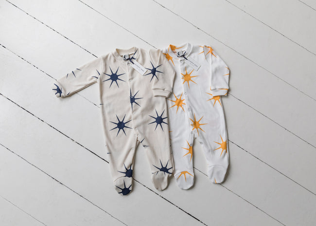 Organic Cotton Baby Sleepsuit : Dusk