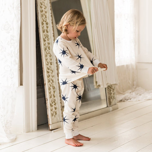 Sleepy Doe Organic Cotton Kids Pajama Set: Dusk