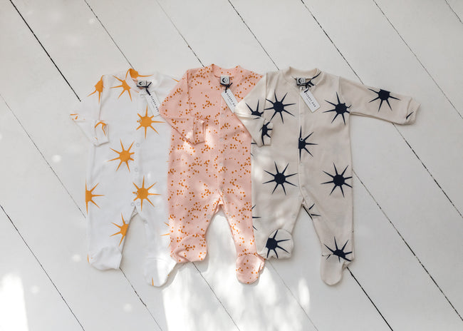 Organic Cotton Baby Sleepsuit : Dawn